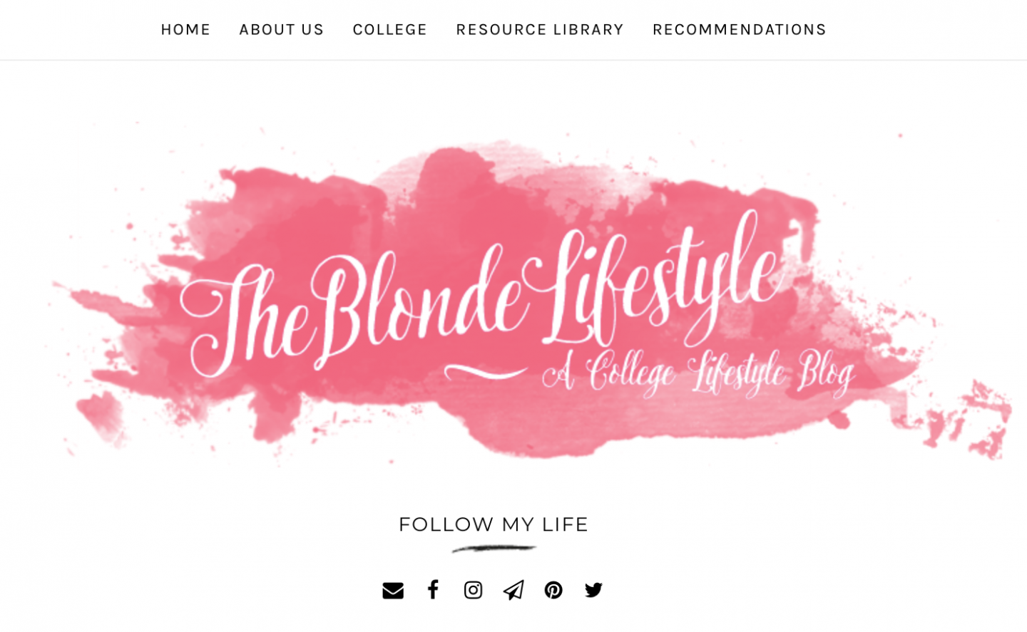The Blonde Lifestyle college blog